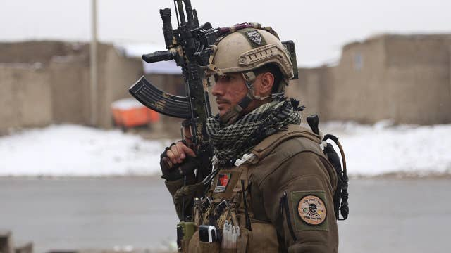 Afghan soldiers guarding military academy attacked in Kabul