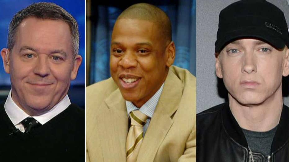 Gutfeld: Eminem, Jay-Z and Trump