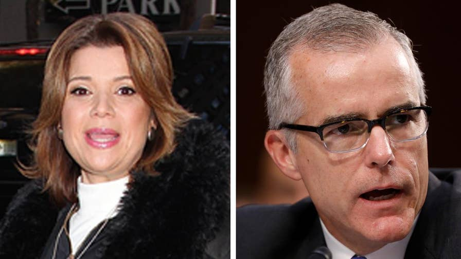 Fox411: CNN analyst Ana Navarro came under fire Monday evening after she re-worded a famous Holocaust poem to warn about the removal of top FBI official Andrew McCabe.