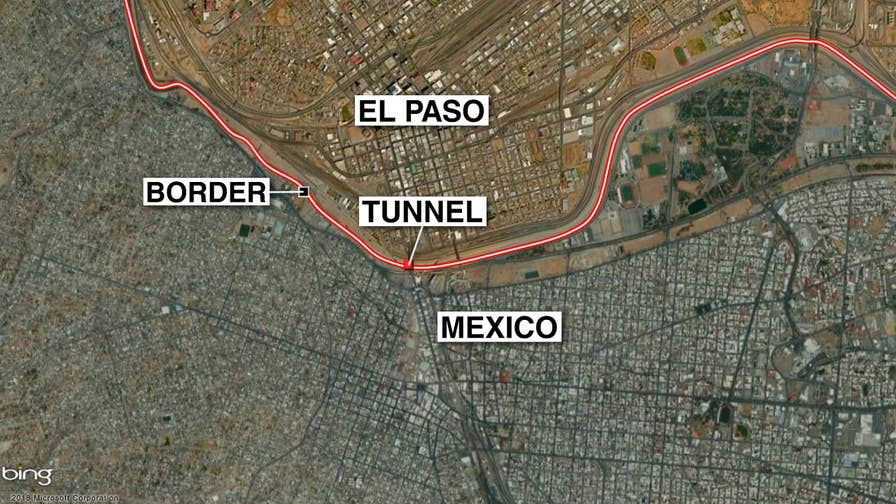 Border Patrol found a tunnel on the U.S. - Mexico border after a cave in at construction site