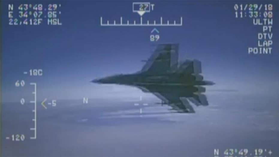 US releases video of Russian fighter jet buzzing Navy plane