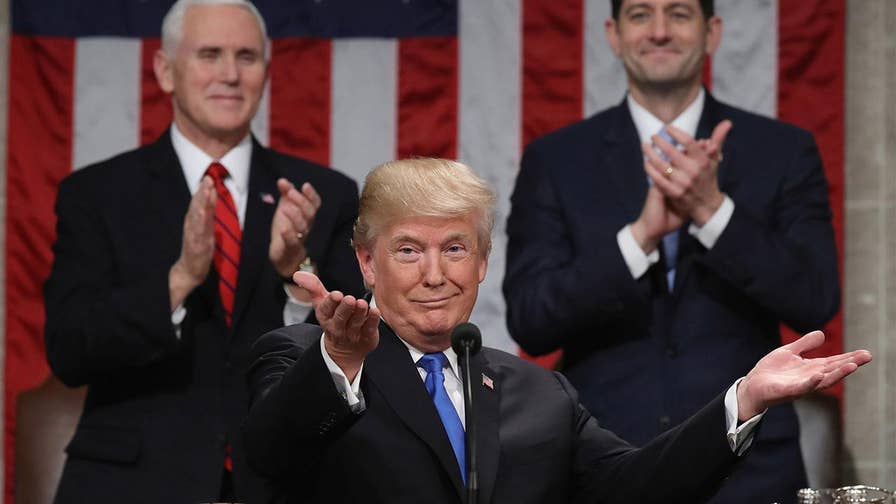 A look at the major highlights from President Donald Trump's 2018 State of the Union which addressed the economy, immigration, infrastructure, Guantanamo Bay, North Korea and more.