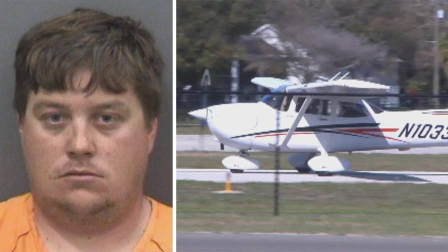 Florida man arrested after trying to steal two aircraft from hangar, going on joyride in golf cart and fuel truck at Peter O. Knight Airport in Tampa.