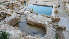 Archaeologists in Israel have announced the discovery of a large 1,500-year-old pool and elaborate fountain at the site of an ancient church near Jerusalem.