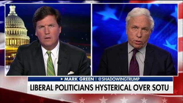 Tucker Battles Mark Green on Democrats at State of the Union