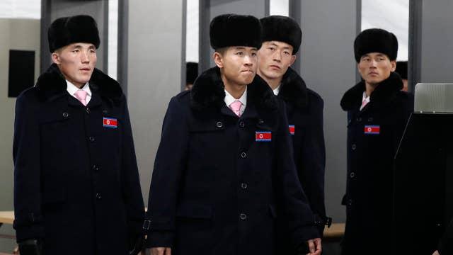 North Korean Olympians arrive at athletes' village