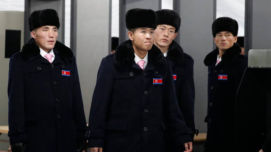 North Korean Olympians arrive at athletes' village