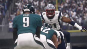 In the latest EA Madden NFL series' annual pre-Super Bowl simulation, the New England Patriots beat the Philadelphia Eagles 24 to 20.