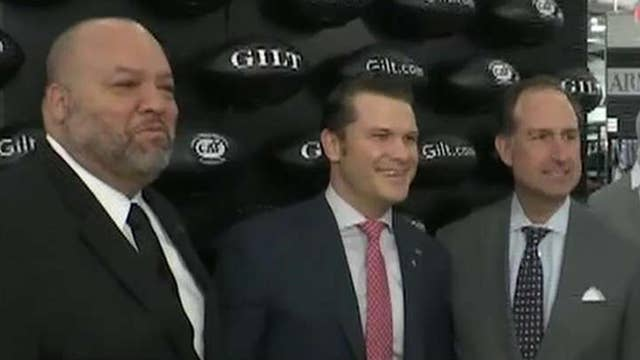 Pete Hegseth and 'Big Daddy' Salgado host a Super Bowl party