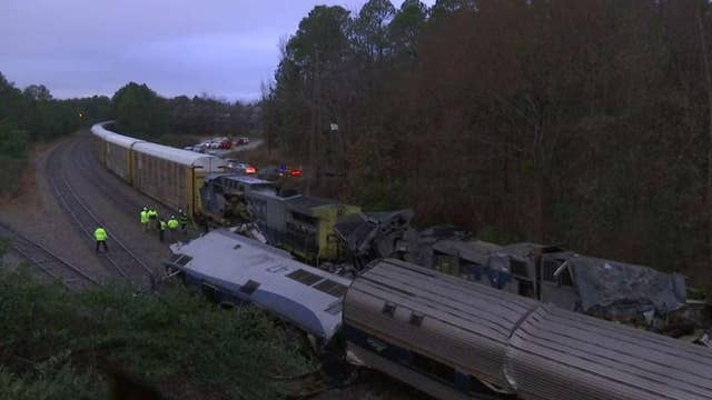 Two dead, 70 injured in Amtrak collision