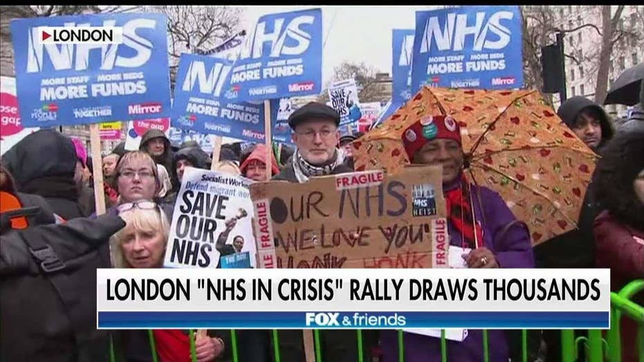 Farage Reacts to Protests Against Cash Strapped NHS