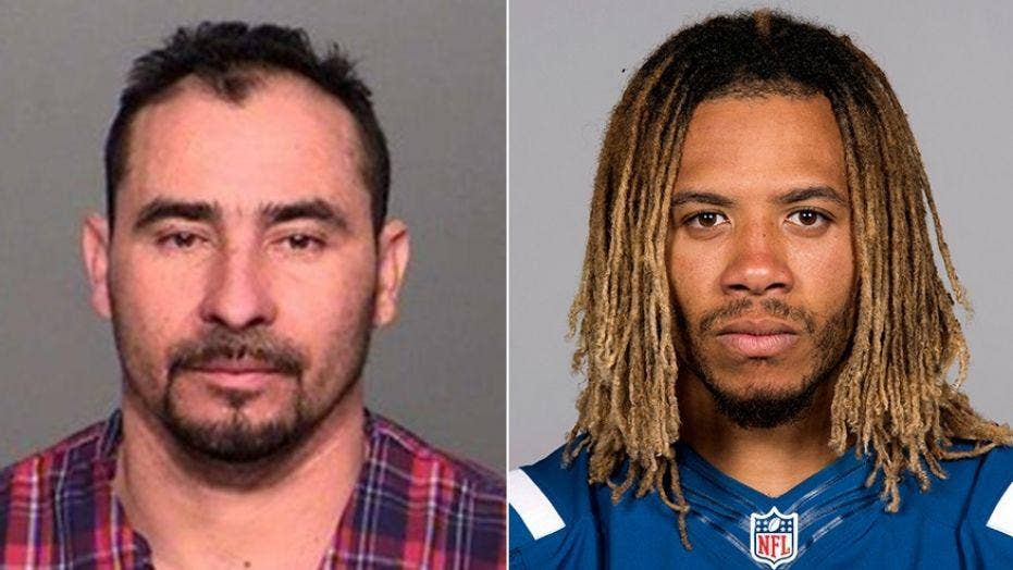 Man living illegally in US gets 16 years for crash that killed Colts linebacker Edwin Jackson and Uber driver
