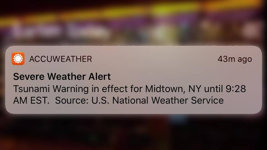 False tsunami warning sent to phones on East Coast