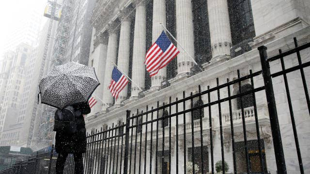 Dow sees somewhat steady day after wild swings