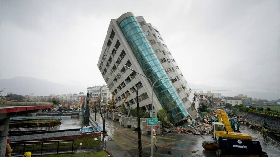 A magnitude-6.4 earthquake was reported at around 11:50 p.m. on Tuesday, February 6 in Taiwan's Hualien County. Preliminary reports stated the quake was about six miles deep. Another 5.1 tremor was felt shortly after. Several people are dead, hundreds are injured and nearly a hundred are missing. Here are some devastating images from the aftermath.