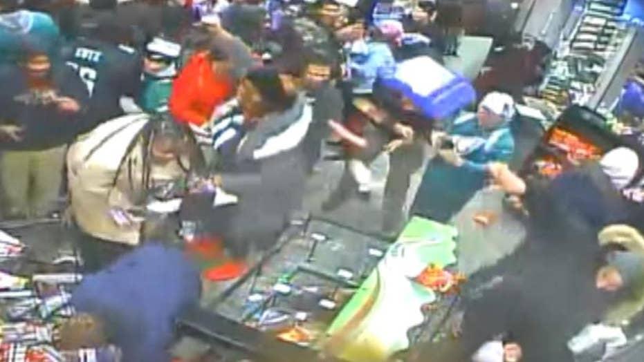 Philadelphia store vandalized after the Super Bowl