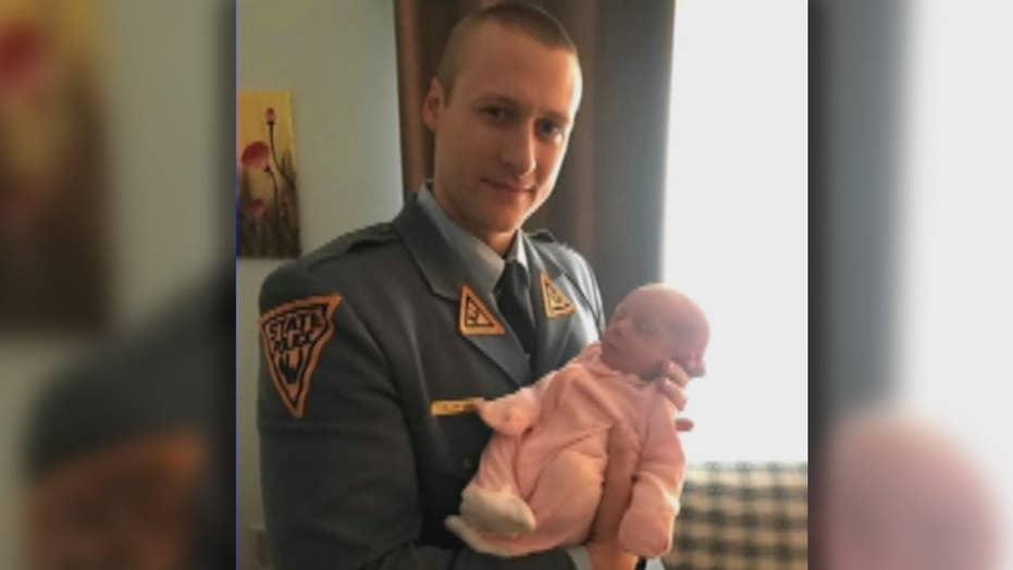 Hero off-duty trooper saves choking newborn baby