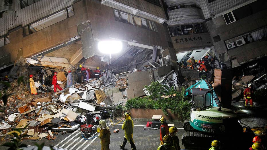 Crews search for survivors of massive Taiwan earthquake