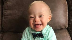 18-month-old Lucas Warren from Georgia is the first child with Down syndrome to win the Gerber baby contest.