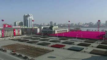 Kim Jong Un speaks at celebration of army's 70th anniversary.
