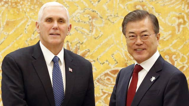 VP Pence meets with the South Korean president