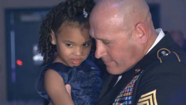 Fellow serviceman accompanies fallen vet's daughter to dance