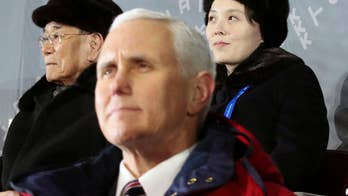 The vice president met with North Korean defectors with Otto Warmbier's father at his side and visited a memorial to South Korean sailors killed when a North Korean submarine torpedo-ed their ship.
