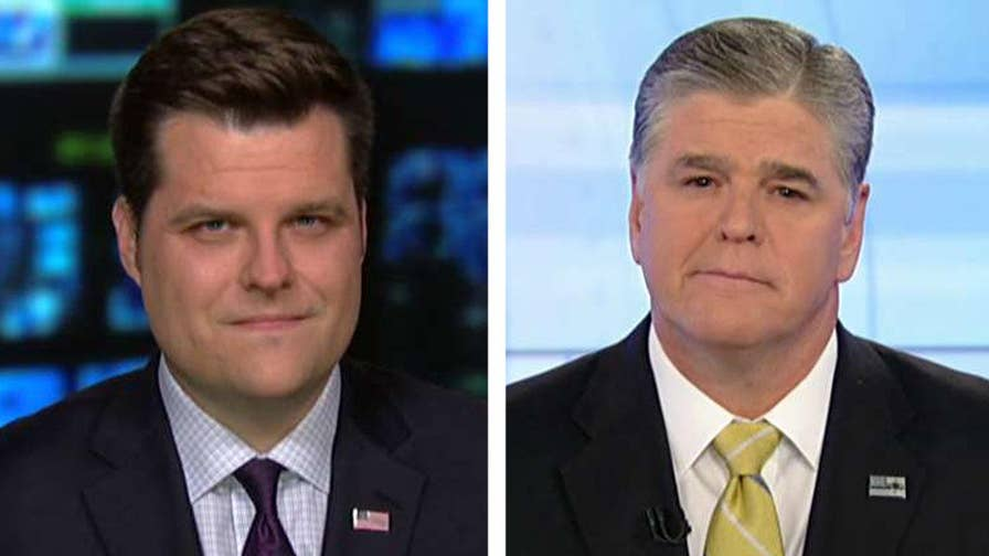 Rep. Matt Gaetz, Sara Carter and John Solomon provide insight on 'Hannity' after an FBI informant makes a statement to Congress about the Clintons.
