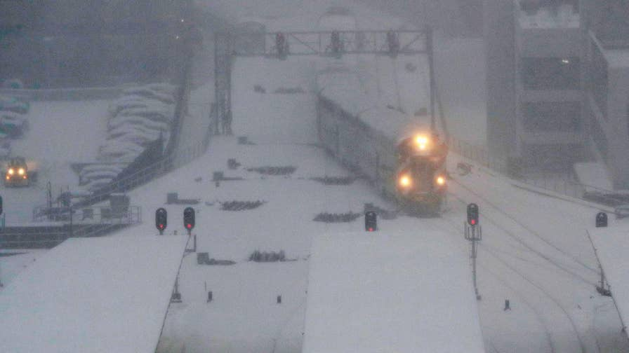 Heavy snow and frigid temperatures hit parts of the Midwest.