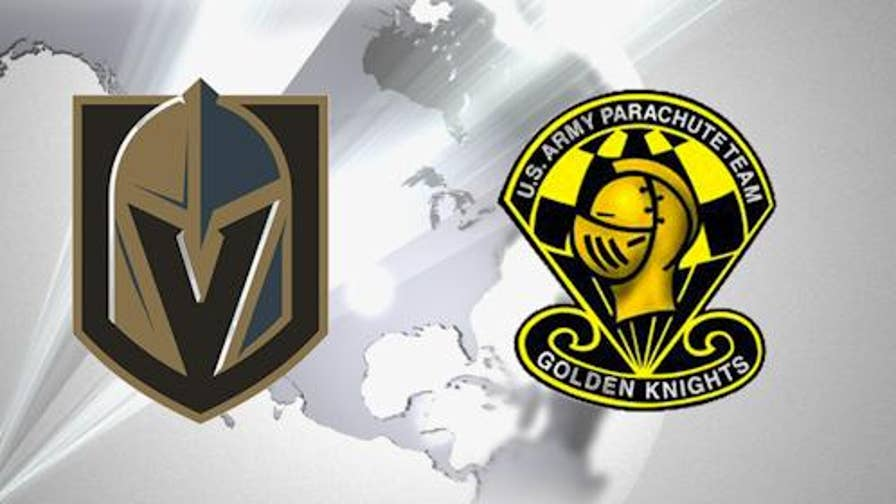 Army parachute troop and NHL team working on coexistence agreement for use of golden knights name.