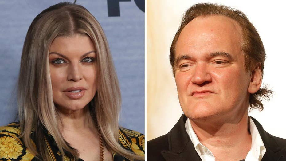 Fergie says Quentin Tarantino bit her on movie set