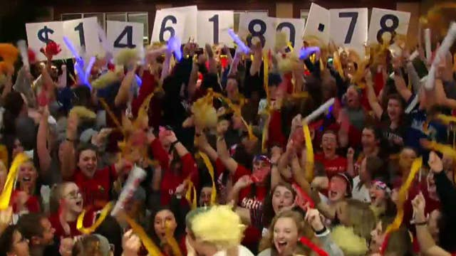 Students stay up until dawn to support kids battling cancer