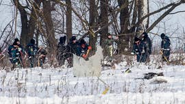 A deadly plane crash in Russia Sunday that left 71 people dead was captured on surveillance footage which appears to show the moment the An-148 crashed just minutes after it took off.