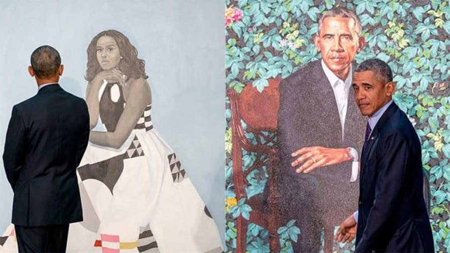 Former President Barack Obama and former first lady Michelle Obama's official portraits were unveiled at the Smithsonian's National Portrait Gallery in Washington, D.C.