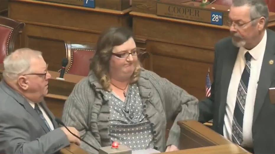 Woman removed from W.Va. capitol for citing corporate donors