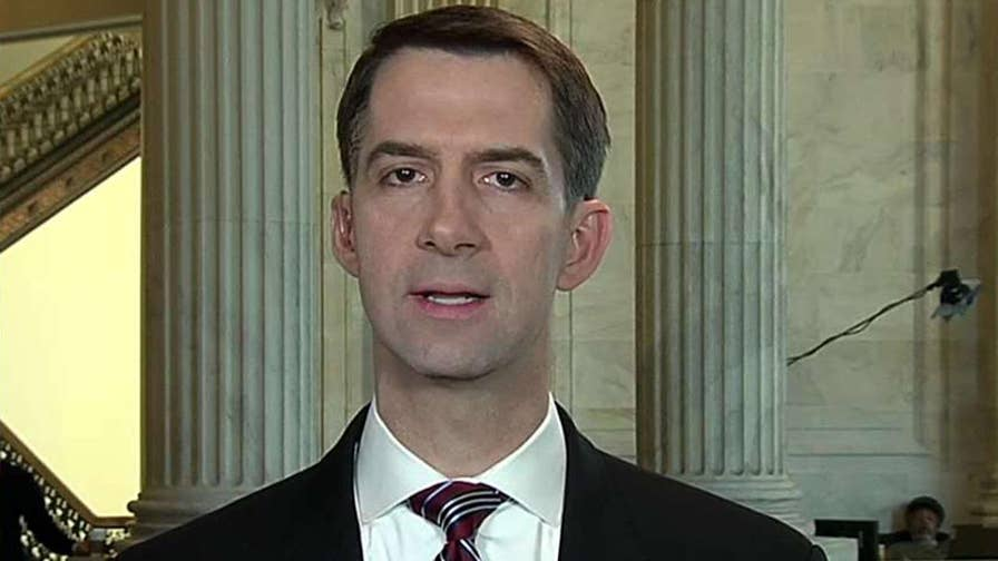 The White House's immigration framework includes a path to citizenship for 1.8 million illegal immigrants; Arkansans Senator Cotton breaks down his bill on 'Fox & Friends.'