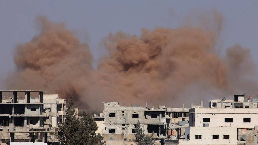 The U.S. struck back with a massive round of airstrikes last week after coming under attack by a battalion-sized pro-Assad unit that many believed contained Russian mercenary contractors; national security correspondent Jennifer Griffin reports from the Pentagon.