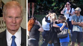 Sen. Bill Nelson reacts to shooting at Marjory Stoneman Douglas High School.