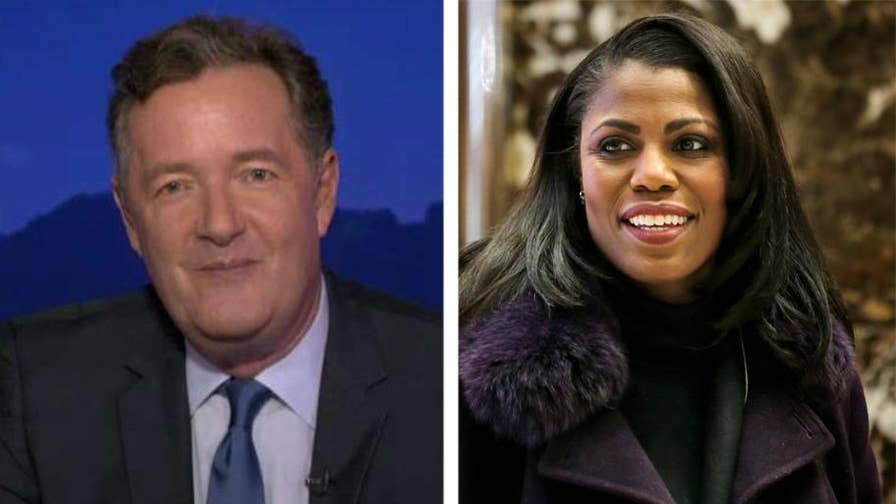 Piers Morgan sounds off on Omarosa's antics on 'Celebrity Big Brother' and betrayal of former colleagues in the Trump administration, saying the fact she had a job in the White House is 'beyond parody.'. #Tucker