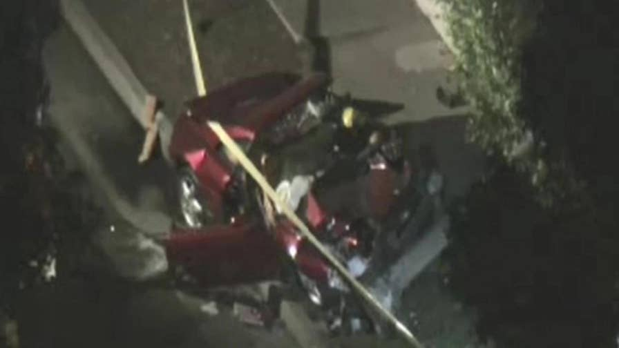 A Ferrari crashed in Los Angeles, rolling over and hitting a tree, killing the driver.  Pro golfer Bill Haas and actor Luke Wilson were also involved. Here are the details.