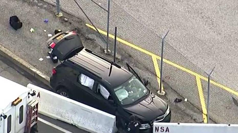 Report: Officer injured in NSA shooting