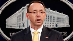Deputy Attorney General Rod Rosenstein announces indictment of 13 Russian nationals and three Russian companies for U.S. election meddling.