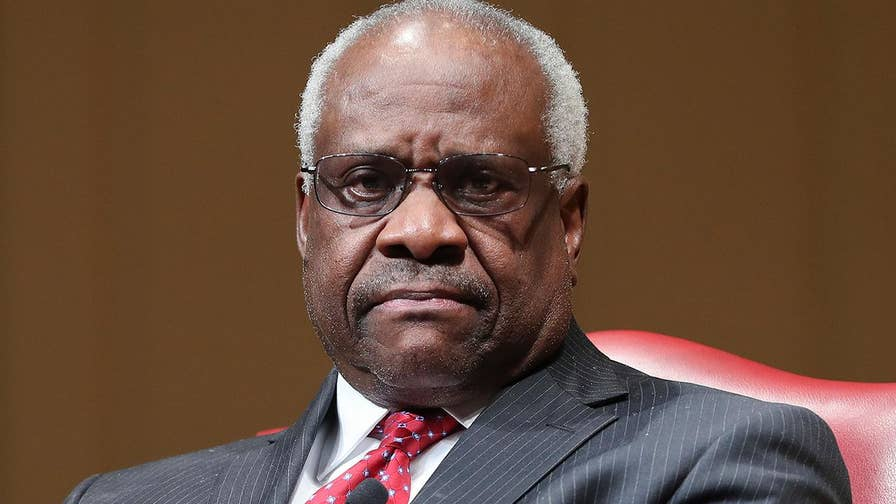 U.S. Supreme Court Justice Clarence Thomas says at some point we're going to be 'fatigued with everyone being a victim' in conversation with Judge of the United States Court of Appeals for the Armed Forces Gregory E. Maggs at Library of Congress in Washington, D.C.