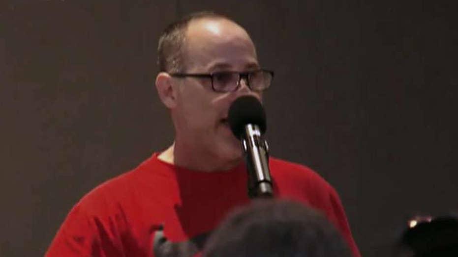 Emotional Florida dad, speaking at shooting massacre vigil