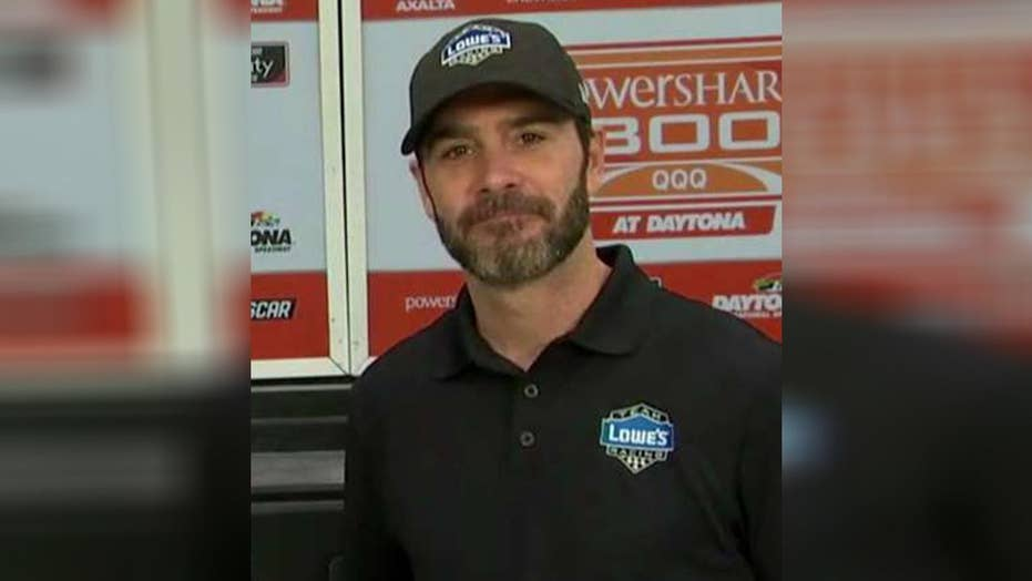 Jimmie Johnson gears up for the Daytona 500