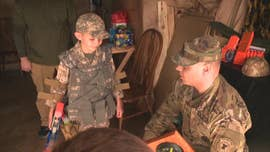 An autistic boy got a surprise visit from the Army for his 9th birthday.