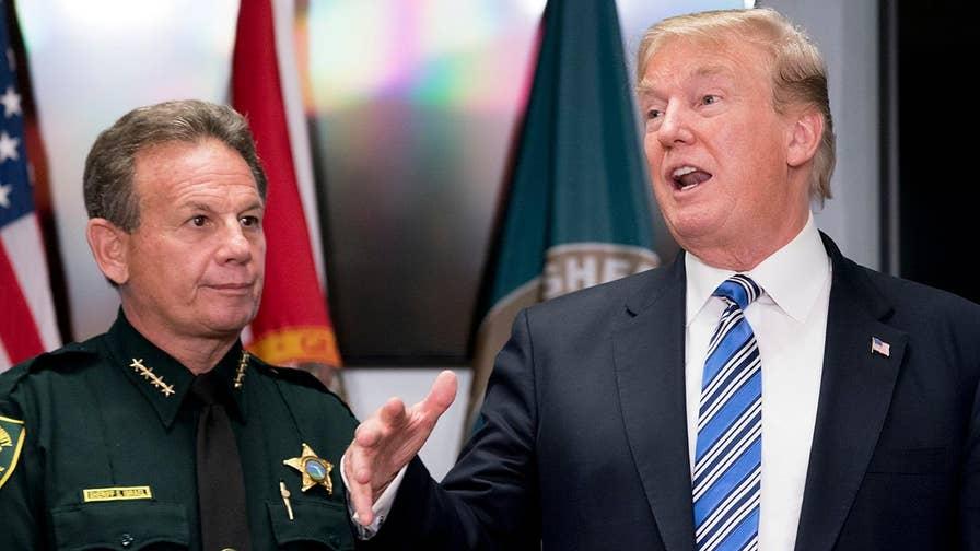 President Trump backs efforts to improve federal gun background checks.