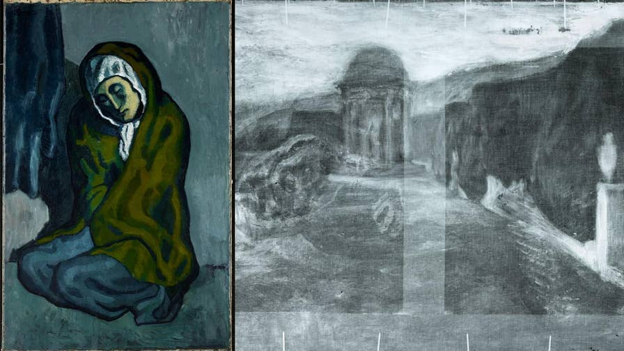 Researchers at Northwestern University have revealed a hidden landscape painting beneath Pablo Picasso's famous La Misereuse Accroupie (The Crouching Beggar).