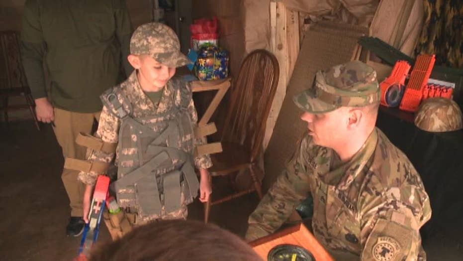 California soldiers surprise autistic boy for his birthday