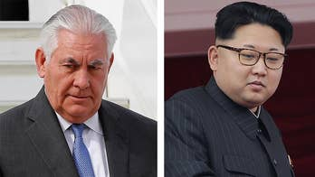 While Tillerson expresses a desire for a diplomatic solution, he says the U.S. is using sticks, not carrots, to get Kim Jong Un to the table; reaction from the Washington Examiner's Tom Rogan.